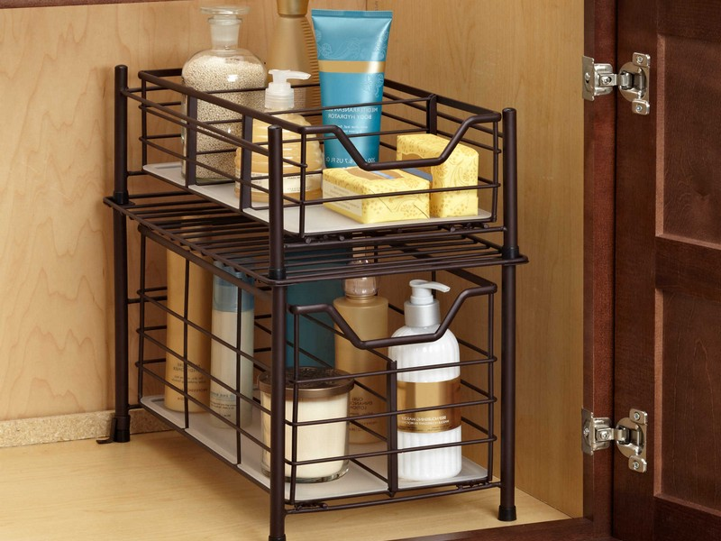 Bathroom Countertop Storage Drawers