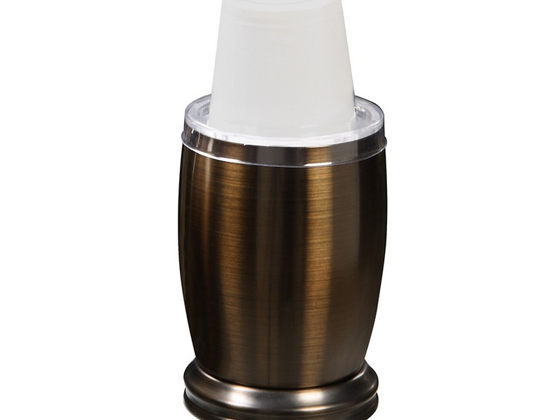 Bathroom Cup Dispenser Bronze