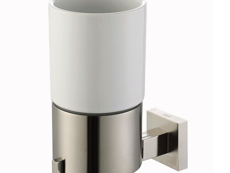 Bathroom Cup Holder Brushed Nickel