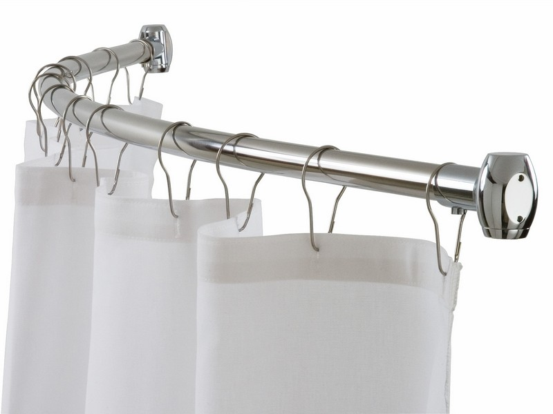 Bathroom Curtain Rods Curved