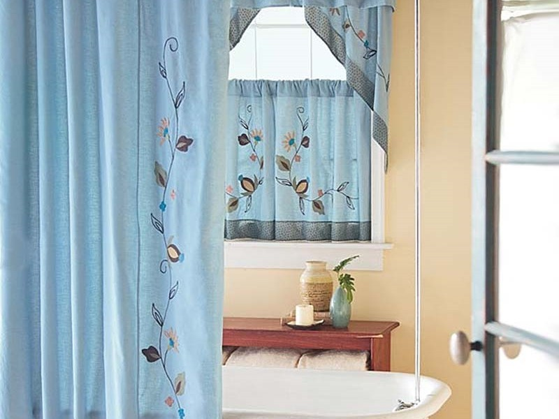 Bathroom Curtain Sets For Showers And Windows