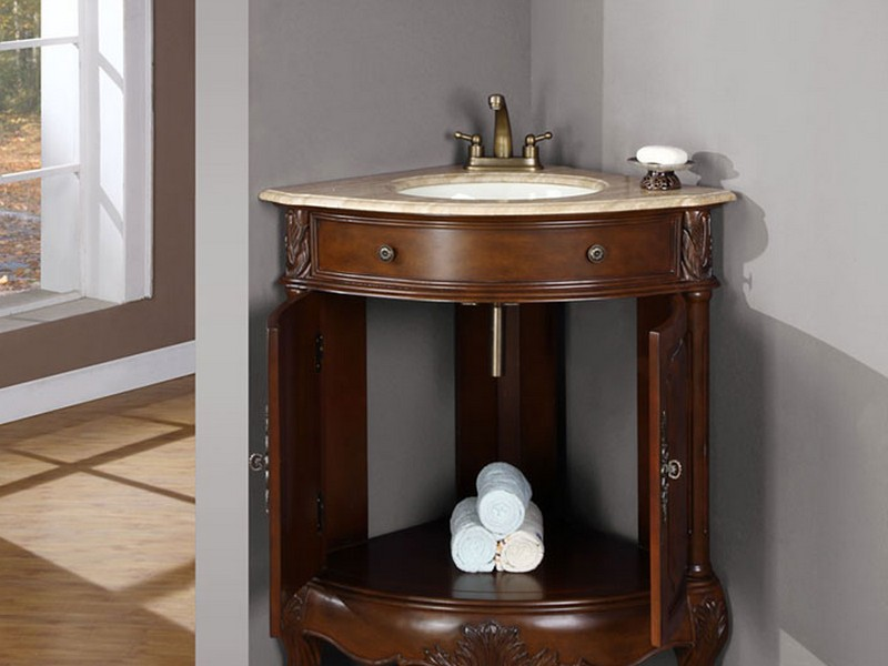 Bathroom Designs With Corner Vanities