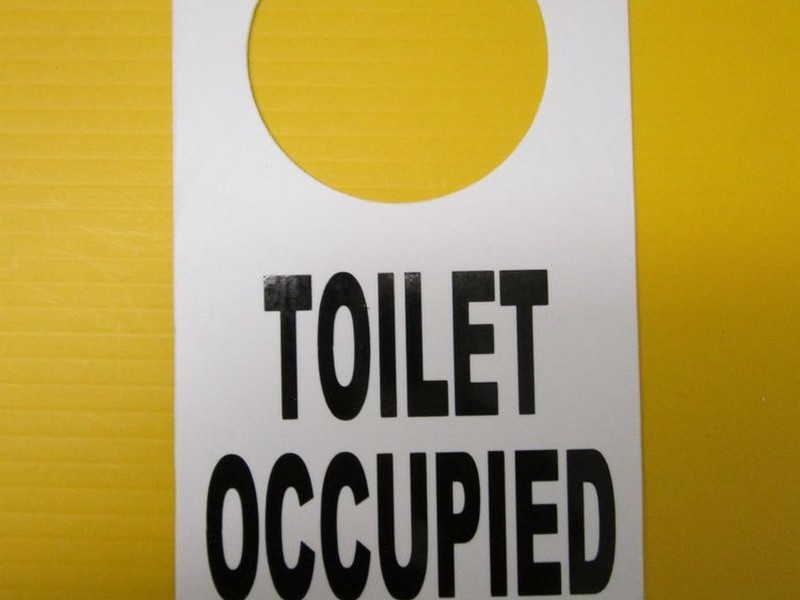 Bathroom Door Signs Occupied