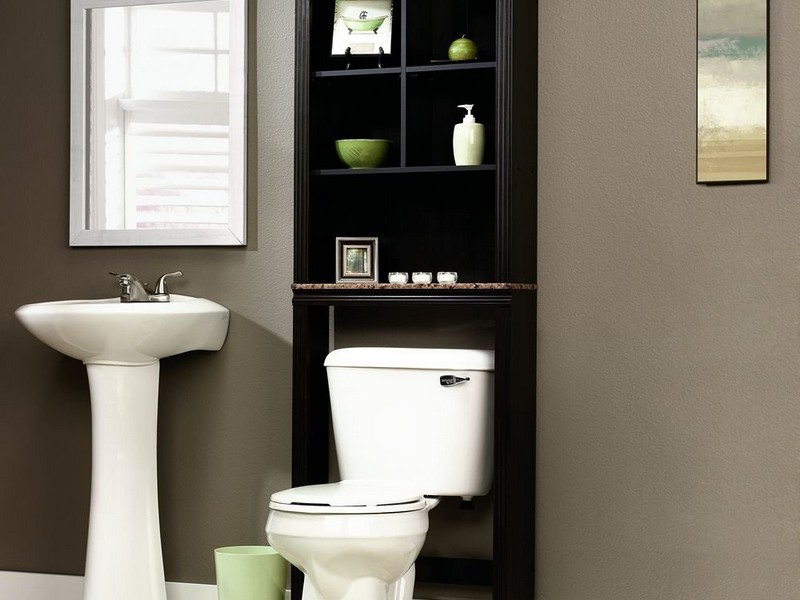 Bathroom Etagere Wood