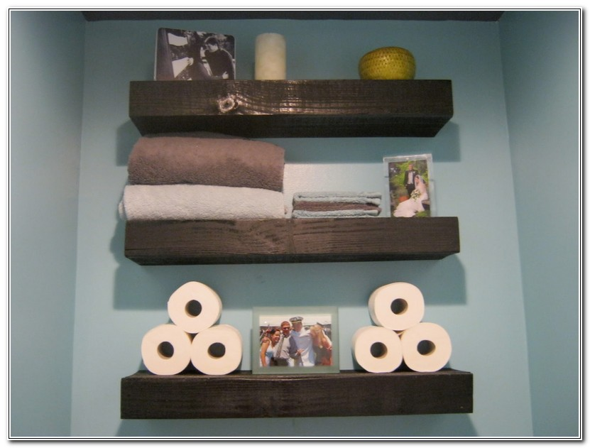 Bathroom Floating Shelves Wood