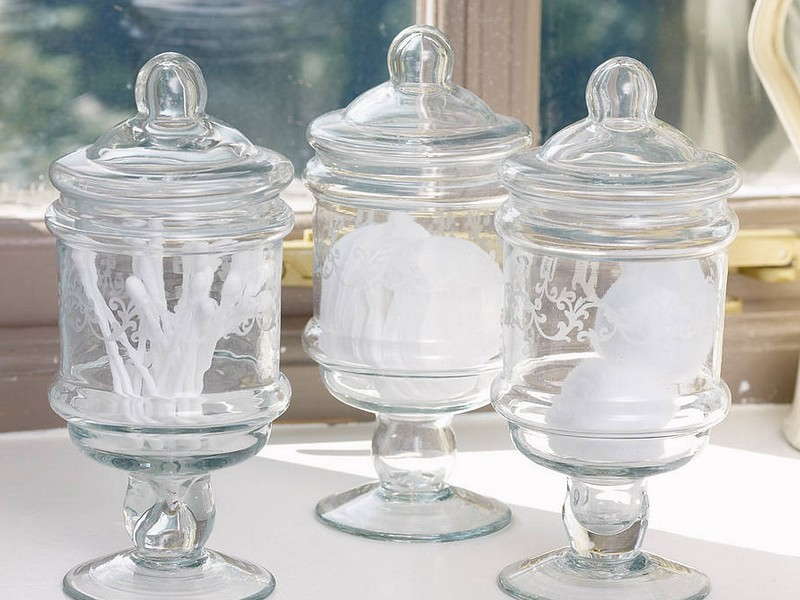 Bathroom Glass Jars With Lids