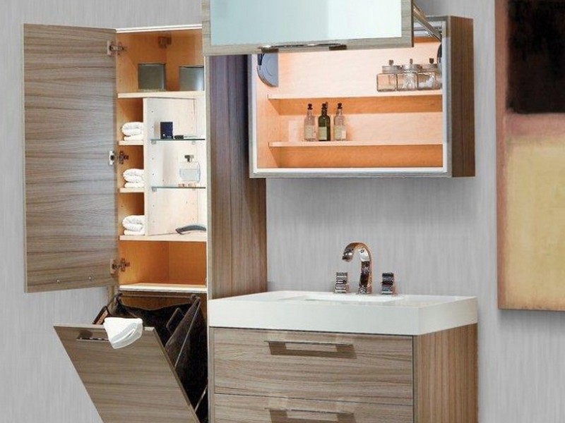 Bathroom Hamper Cabinets