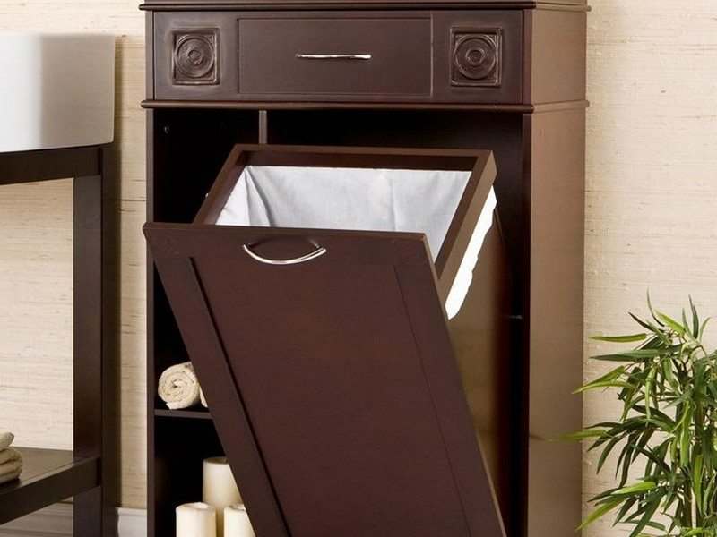 Bathroom Linen Cabinet With Hamper