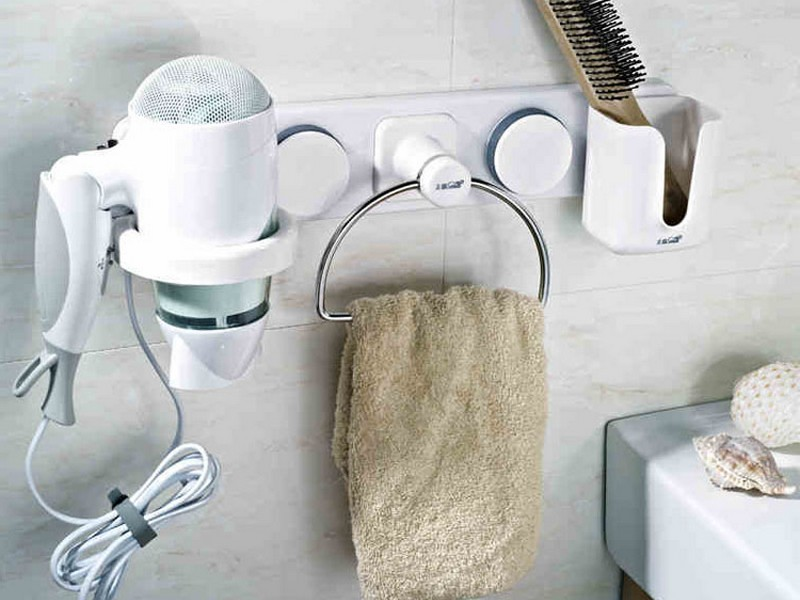 Bathroom Organizer For Hair Dryer