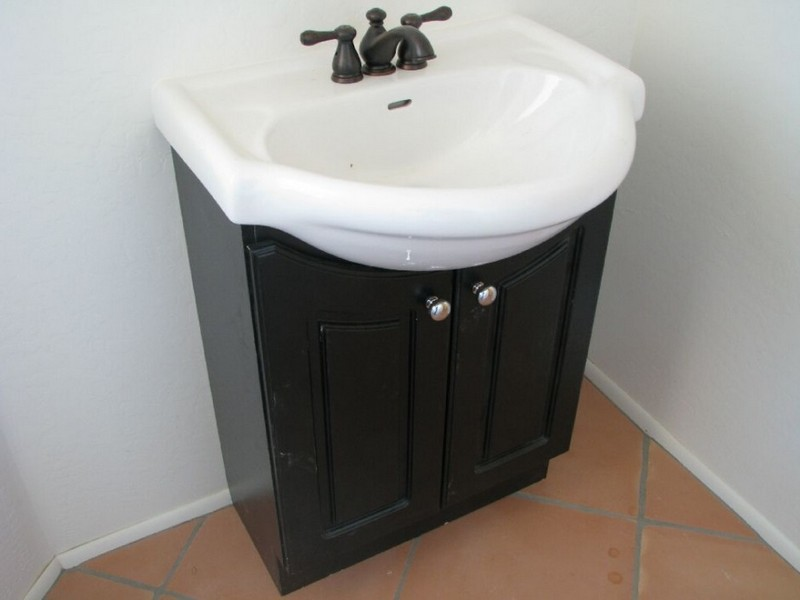 Bathroom Pedestal Sink Storage Cabinet