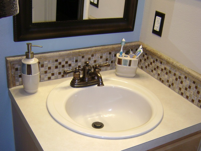 Bathroom Sink Backsplash Tile