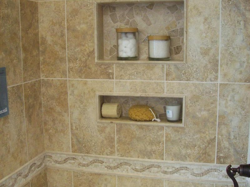 Bathroom Tile Shower Shelves