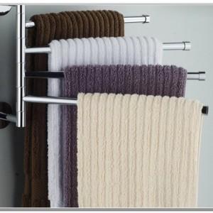 Bathroom Towel Rack Shelf Wall Mounted