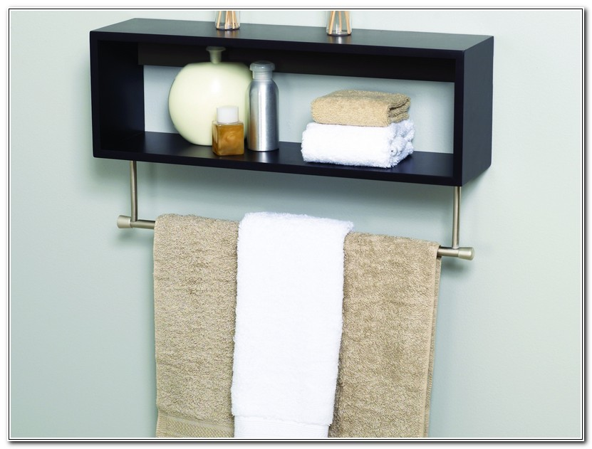 Bathroom Towel Rack With Shelf