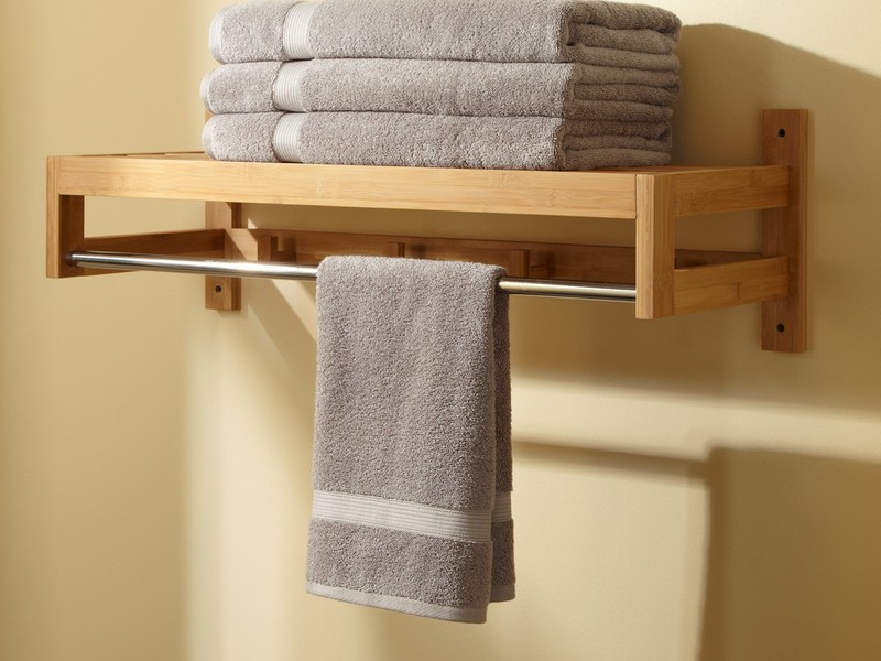 Bathroom Towel Racks With Shelf