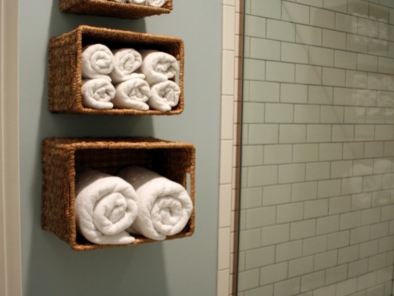 Bathroom Towel Shelf With Hooks
