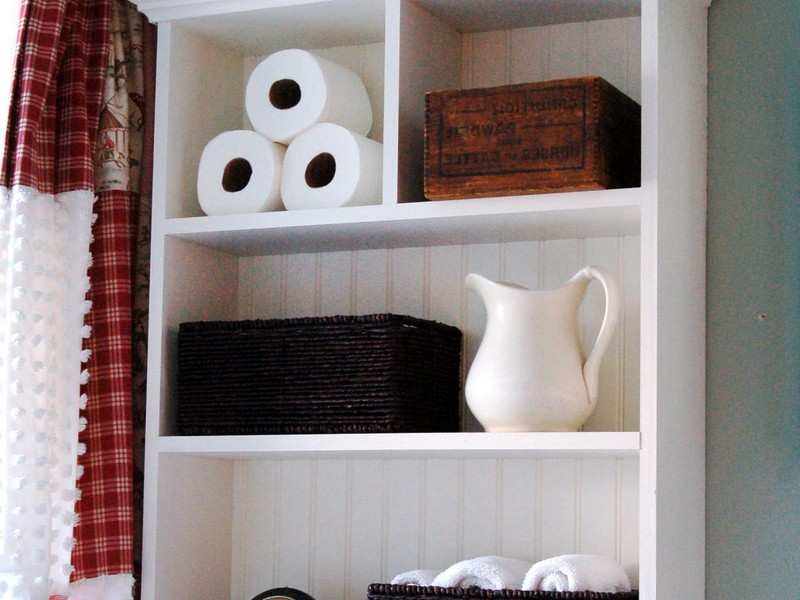Bathroom Towel Storage Shelves