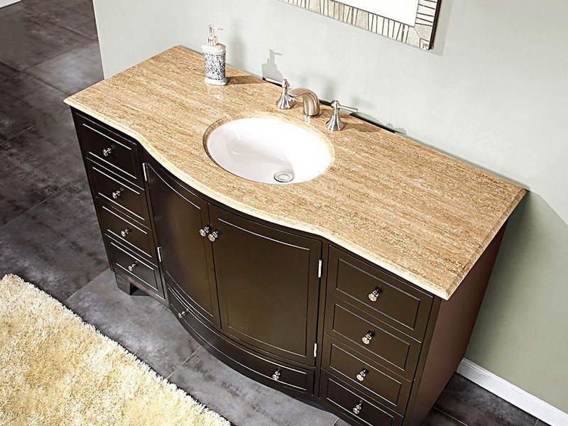 Bathroom Vanities Single Sink 55 Inches