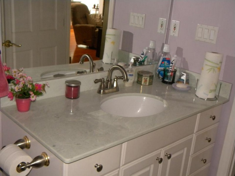Bathroom Vanities With White Granite Tops