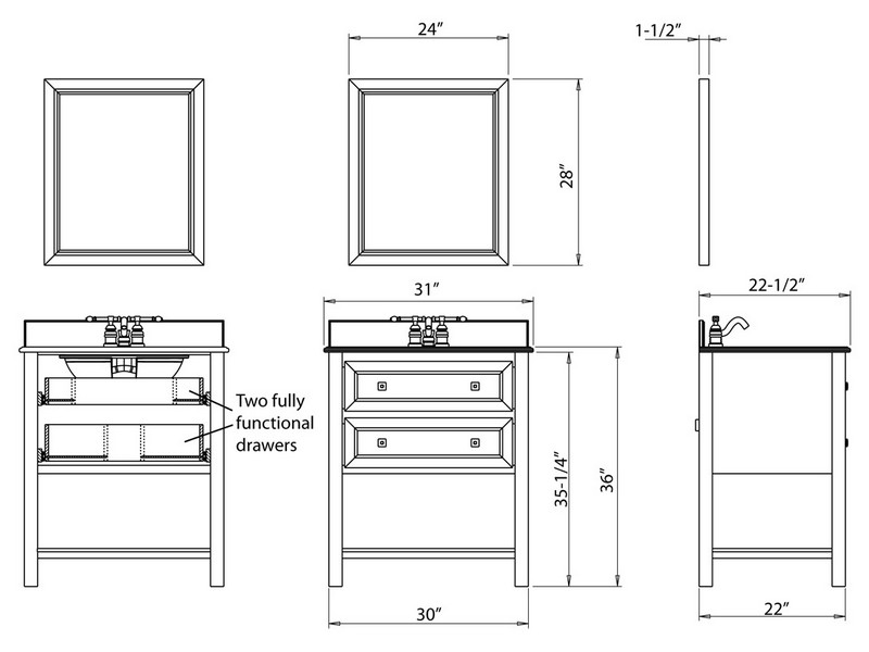 Bathroom Vanity Depth Sizes