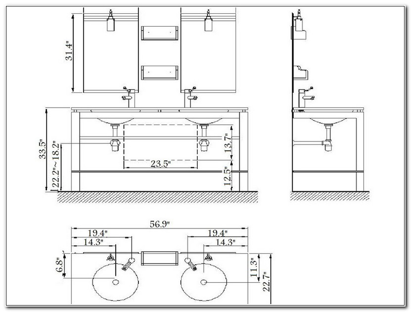 Bathroom Vanity Height And Depth