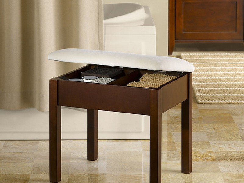 Bathroom Vanity Stool With Storage