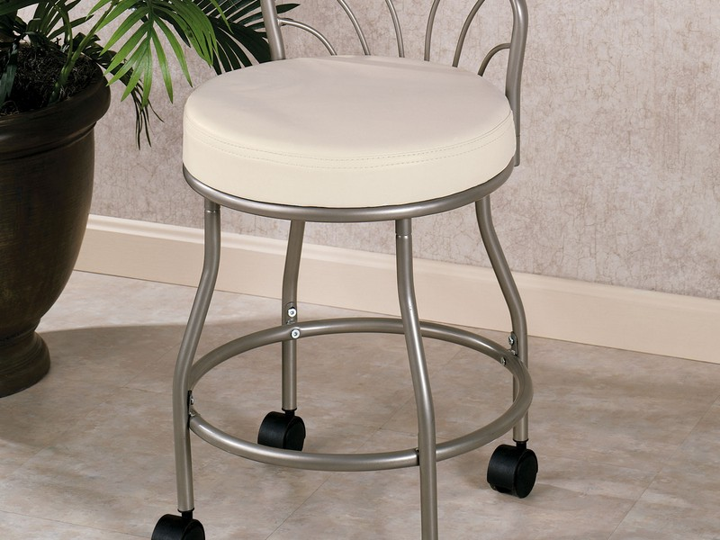 Bathroom Vanity Stool With Wheels