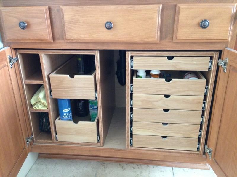 Bathroom Vanity Storage Organization