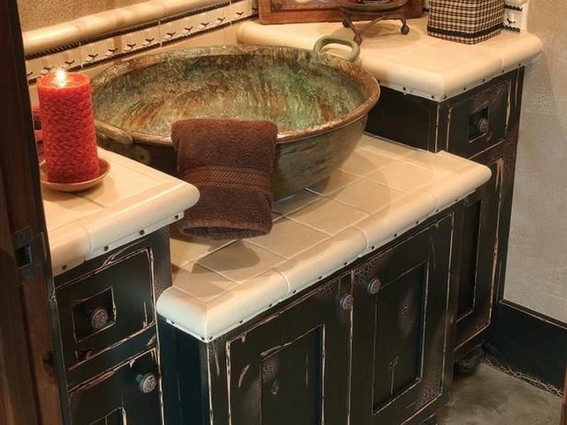 Bathroom Vanity With Copper Sink