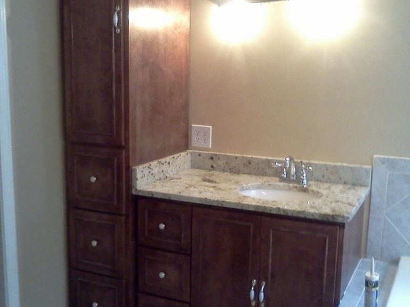 Bathroom Vanity With Linen Closet