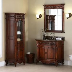 Bathroom Vanity With Linen Tower