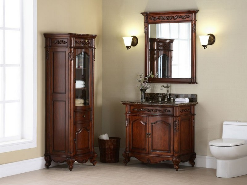Bathroom Vanity With Linen Tower