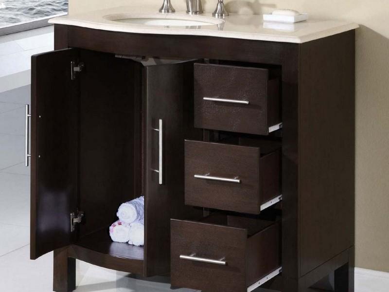 Bathroom Vanity With Side Storage