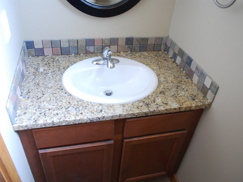 Bathroom Vanity Without Backsplash