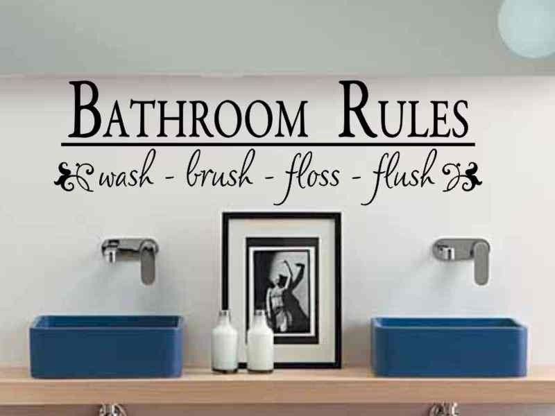 Bathroom Wall Decals Canada