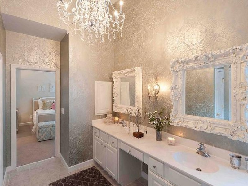 Bathroom Wallpaper Decorating Ideas