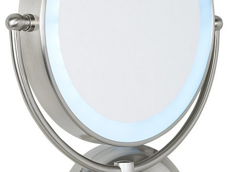 Battery Operated Makeup Mirror Wall Mounted