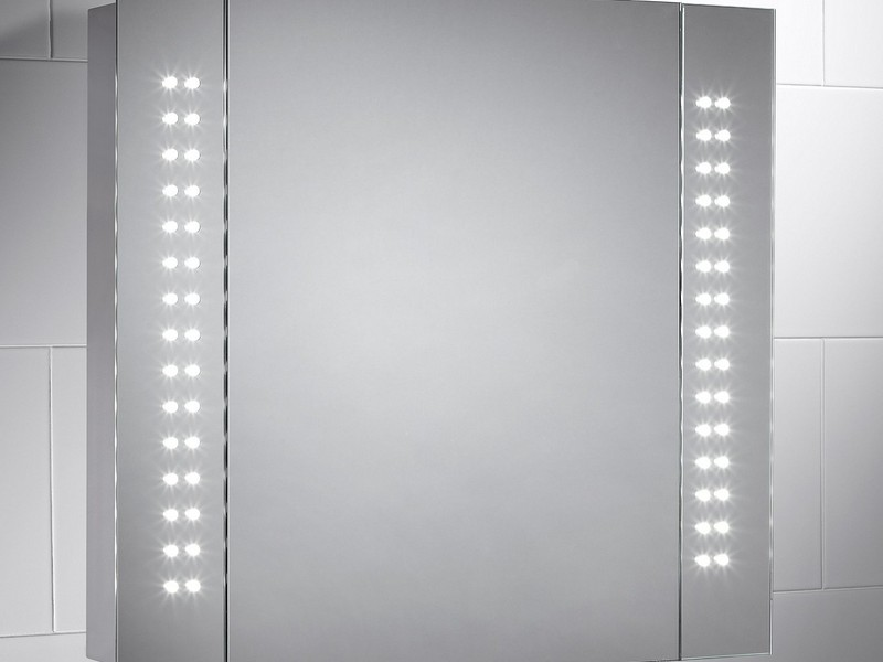Battery Powered Illuminated Bathroom Mirrors