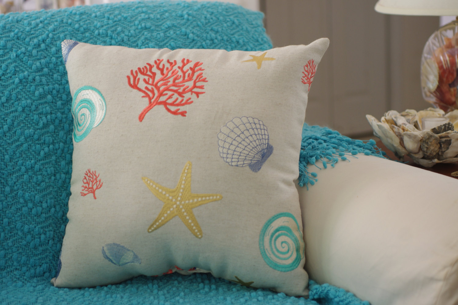 Beach Themed Throw Pillows