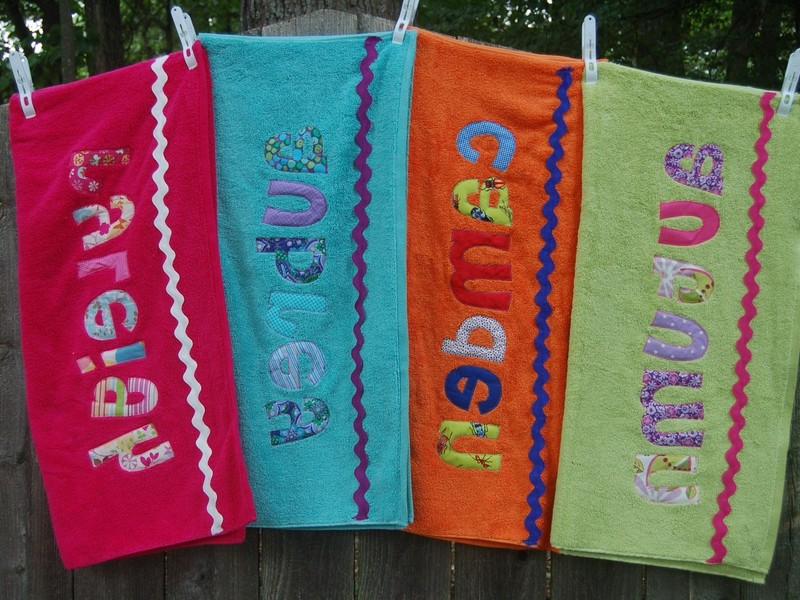 Beach Towels Monogrammed Children