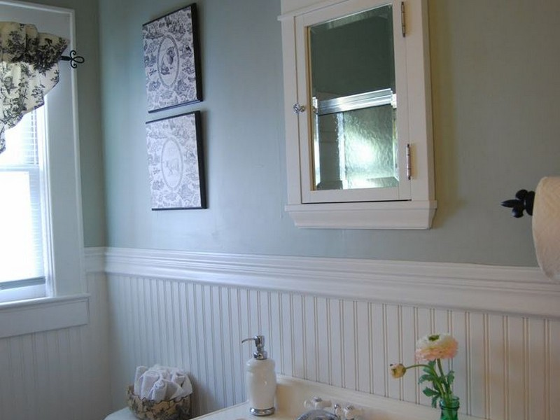 Beadboard Paneling Bathroom Wall