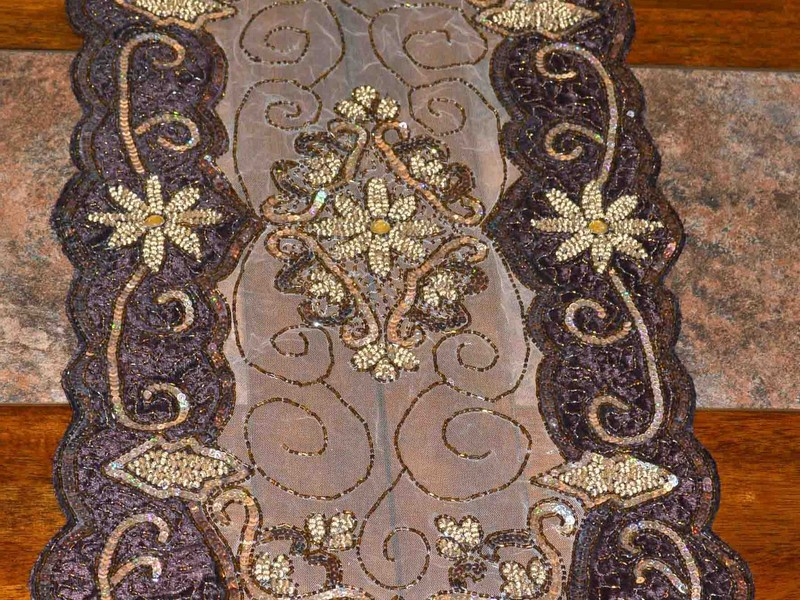 Beaded Table Runners