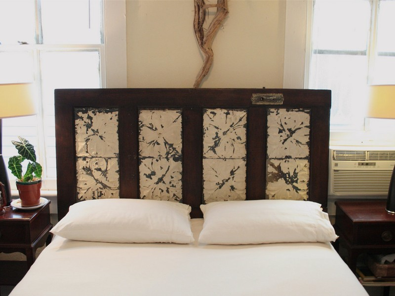 Bed Headboards Made From Old Doors