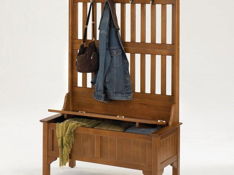 Bench With Coat Rack