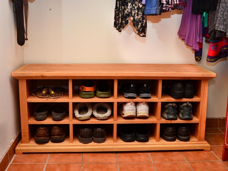 Bench With Cubbies For Shoes