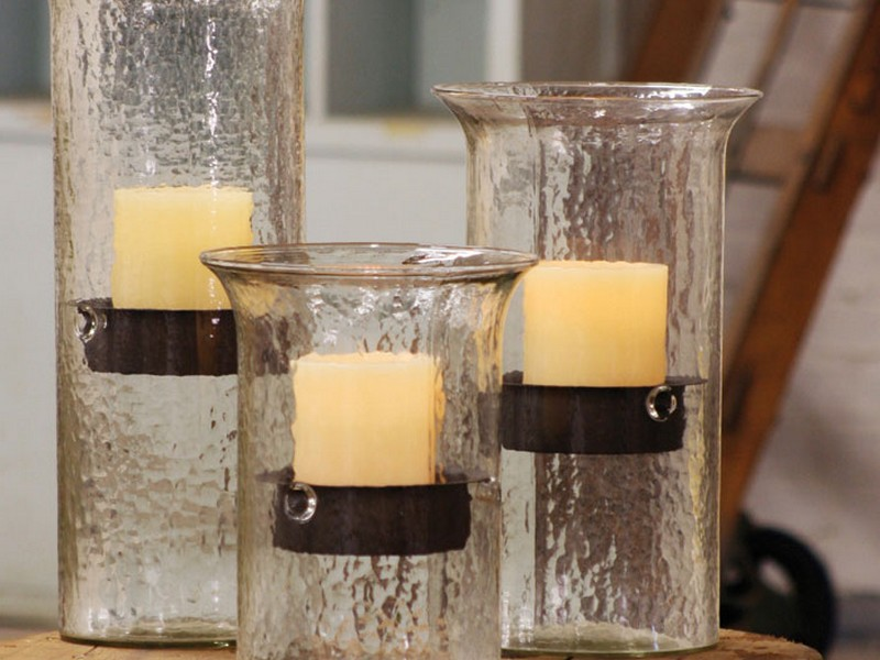 Big Candle Holders Glass