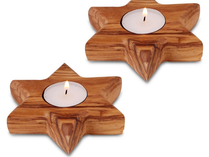 Big Wooden Candle Holders