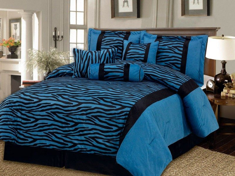 Black And Blue Bed Comforters