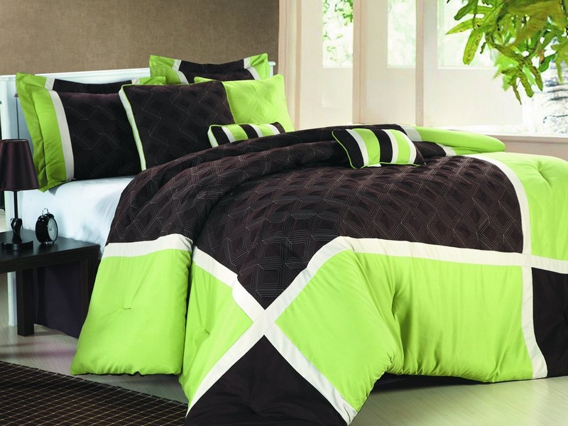 Black And Lime Green Duvet Cover