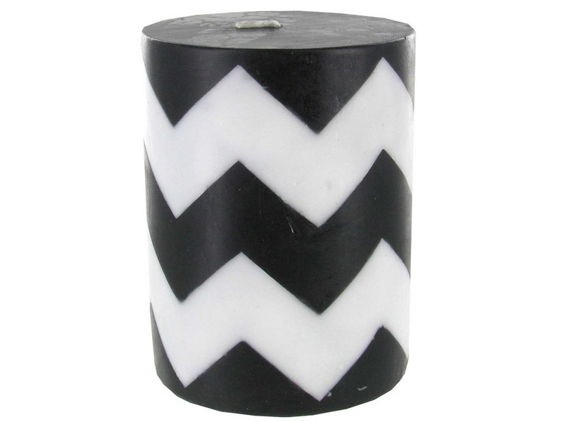 Black And White Pillar Candles